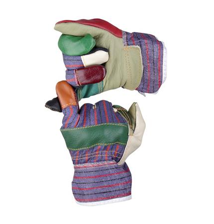 Pracovní rukavice z pestré nábytkářské kůže - ROBIN 2055K Beston c2c13c5bae